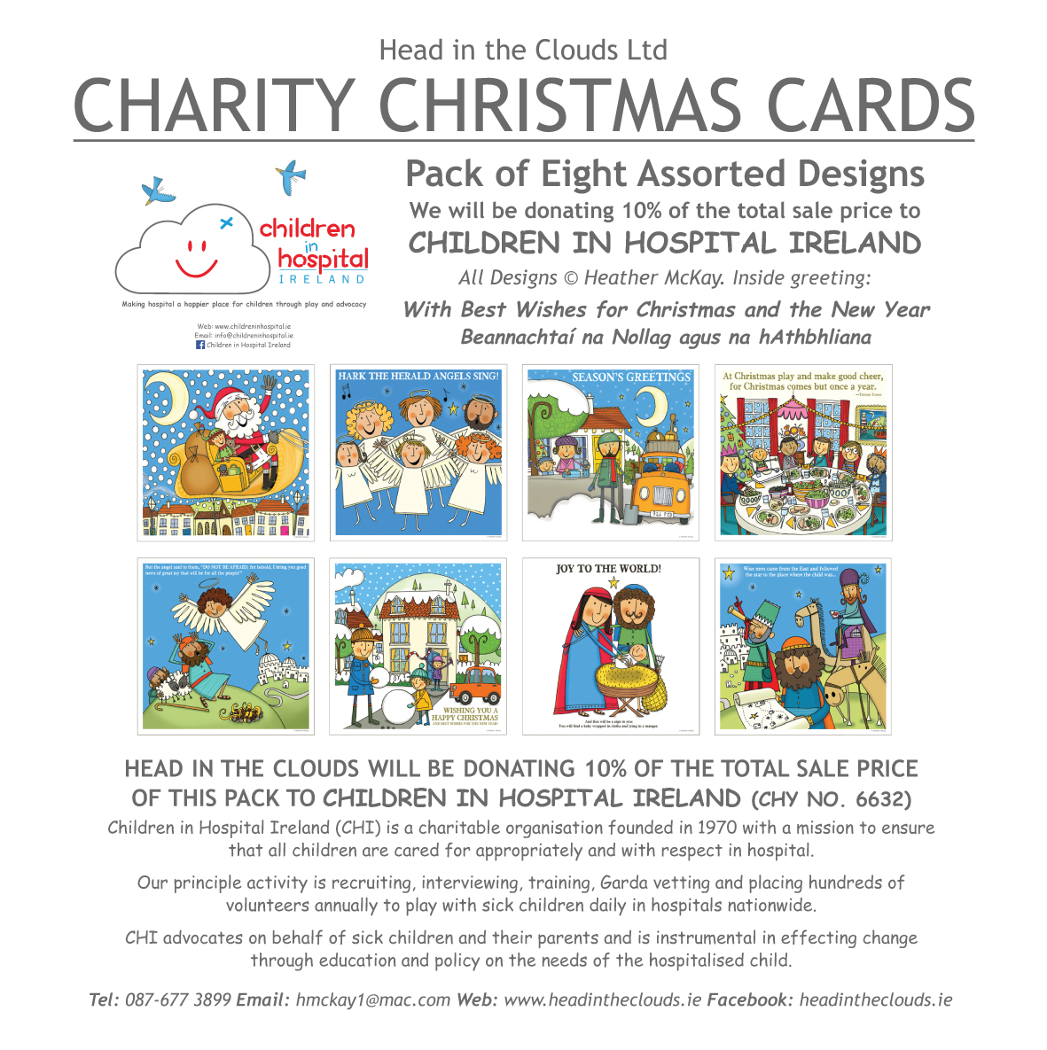 CHI Charity Christmas Cards—Pack of Eight Assorted Designs - Head in ...